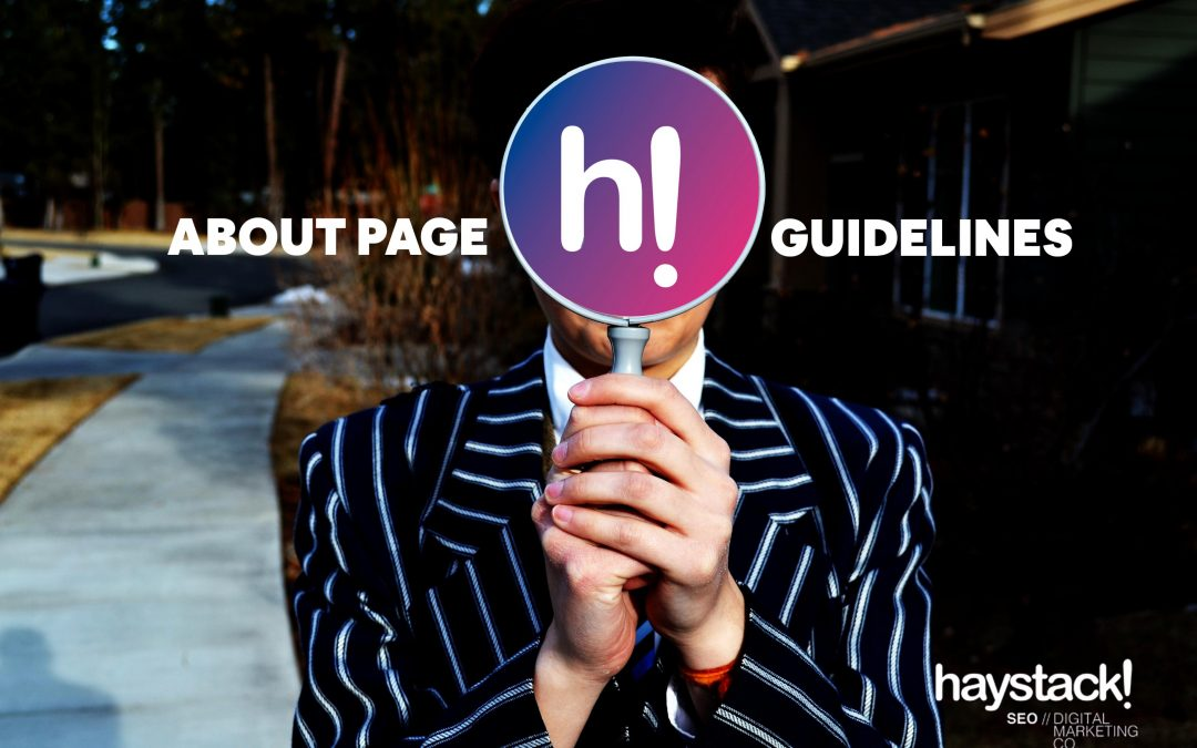 About Page Guidelines